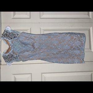 Light Blue Lace Cocktail Dress